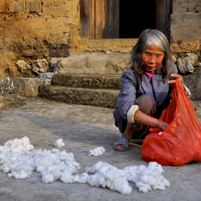 """Cotton Lady China"" stock image"