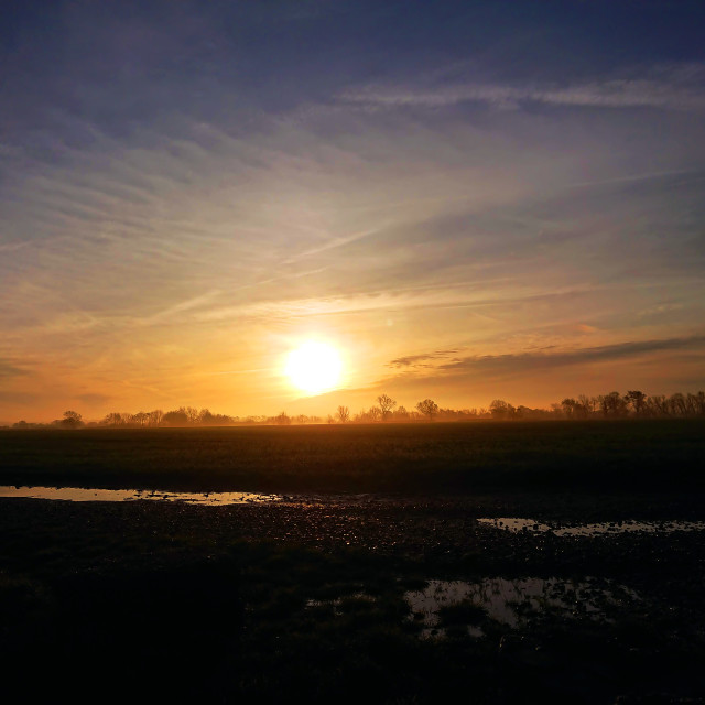 """Glorious golden sunrise"" stock image"