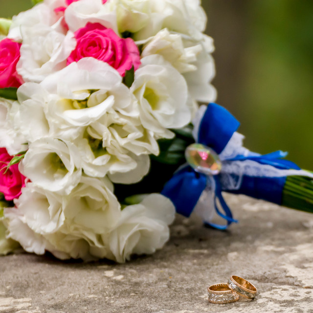 """""""Flowering branch with white delicate flowers on wooden surface. Declaration..."""" stock image"""