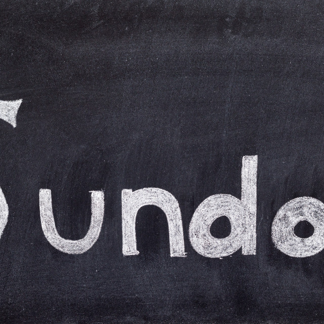 """""""Sunday handwritten on blackboard"""" stock image"""