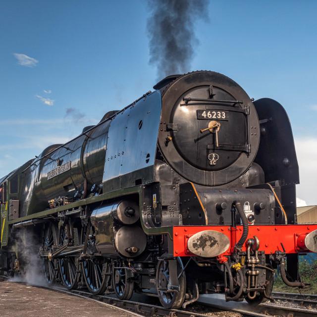 """""""No.46233 - Duchess of Sutherland"""" stock image"""