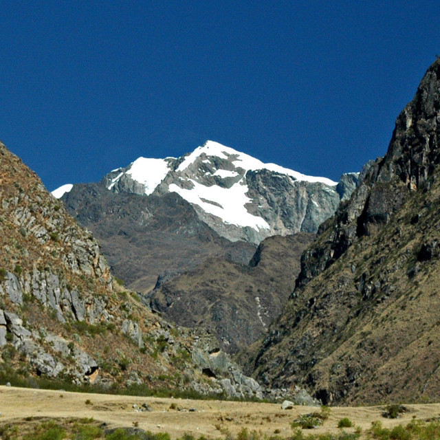 """View along Inca Trail to Machu Picchu. Peru."" stock image"