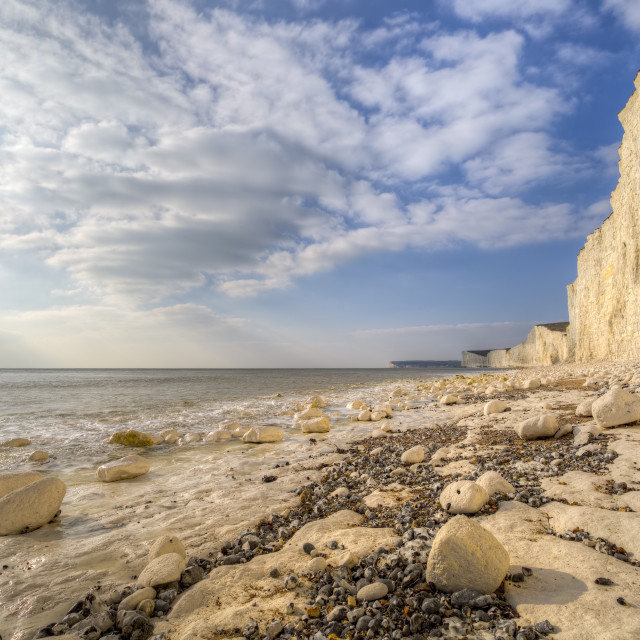 """""""Birling Gap And Seven Sisters"""" stock image"""
