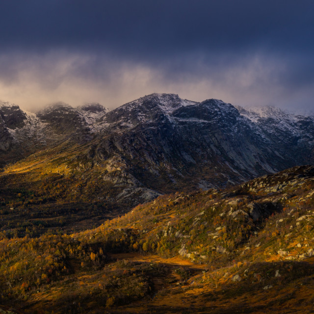 """Autumnal weather in the Norwegian mountains"" stock image"