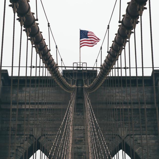 """Brooklyn Bridge - New York City"" stock image"