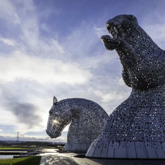 """The Kelpies, Falkirk, Scotland"" stock image"