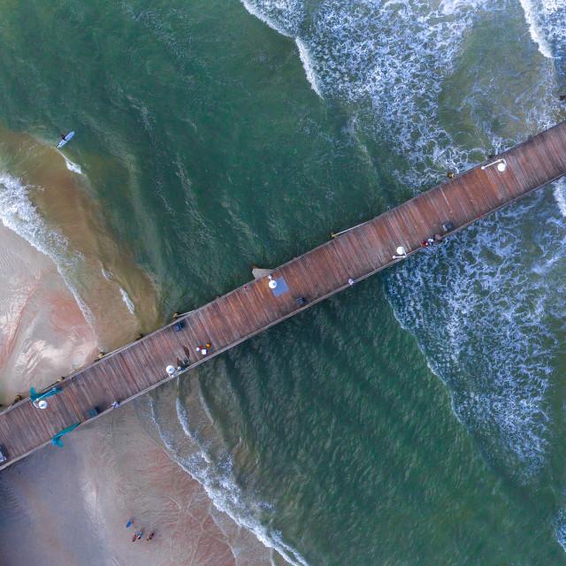 """""""Daytona Beach Boardwalk"""" stock image"""