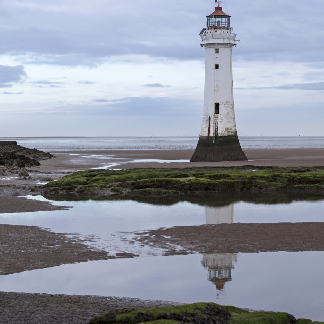 """""""Perch Rock Lighthouse"""" stock image"""