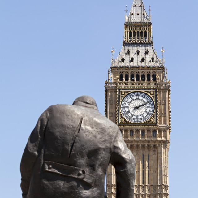 """""""Big Ben & Churchill"""" stock image"""