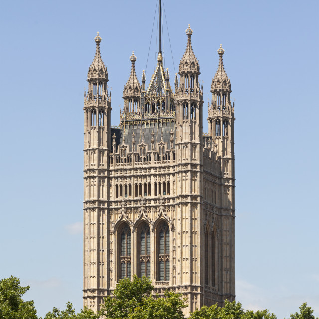 """""""Victoria Tower, Westminster Palace"""" stock image"""