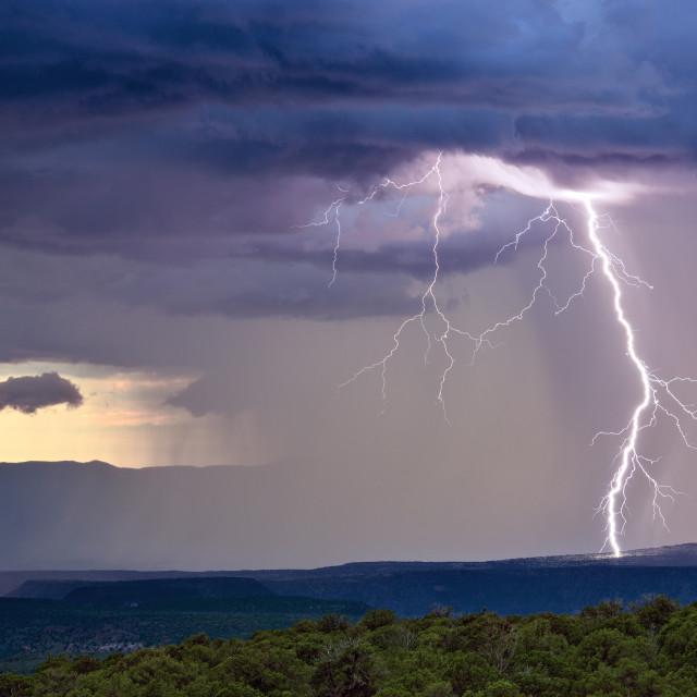 """""""Thunderstorm lightning bolt"""" stock image"""