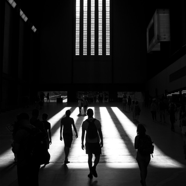 """Evening Light at Tate Modern"" stock image"