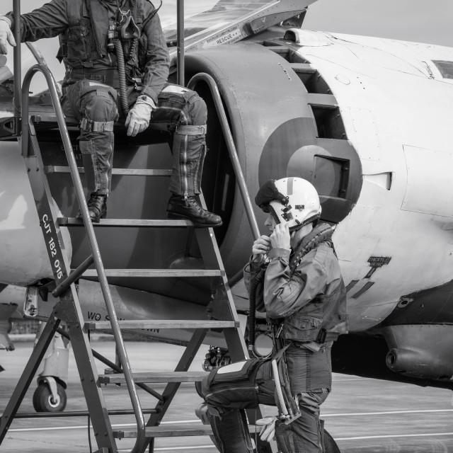 """Pilot Briefing"" stock image"