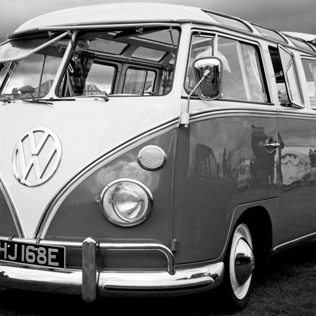 """Classic VW Split Screen Camper Van"" stock image"