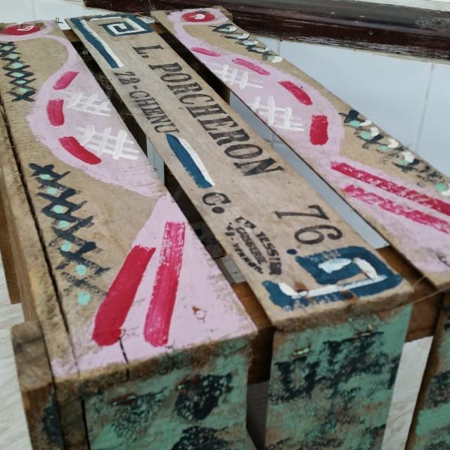 """Painted Apple Box"" stock image"