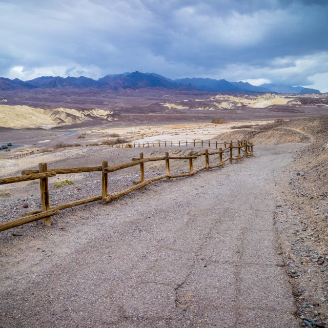 """Golden Canyon Trail in Death Valley National Park"" stock image"
