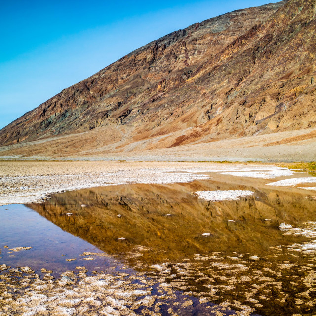 """A pool of water in Death Valley National Park"" stock image"