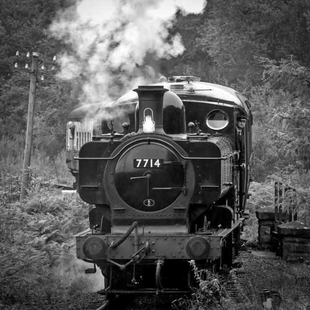 """GWR No.7714"" stock image"