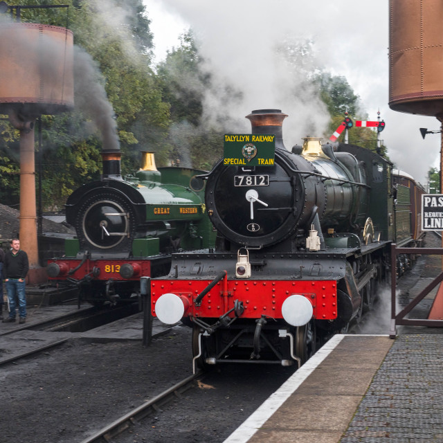 """GWR No.7812 Erlestoke Manor"" stock image"