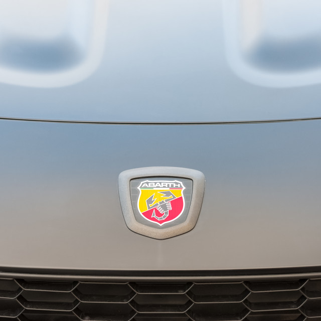 """Abarth vehicle badge"" stock image"