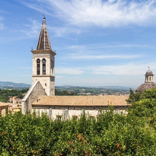 """Cathedral, Spoleto"" stock image"