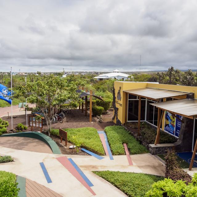 """""""Charles Darwin Research Station, Puerto Ayora, Santa Cruz or Indefatigable..."""" stock image"""