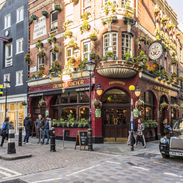 """The Crown and Anchor pub in Covent garden in London, England, United Kingdom,..."" stock image"
