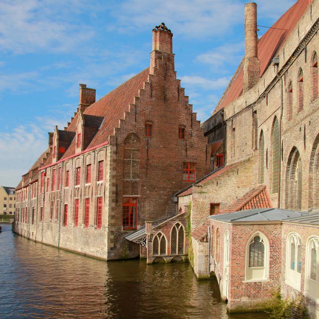"""""""Old St. John's Hospital, Bruges, Flemish Region, West Flanders, Belgium"""" stock image"""