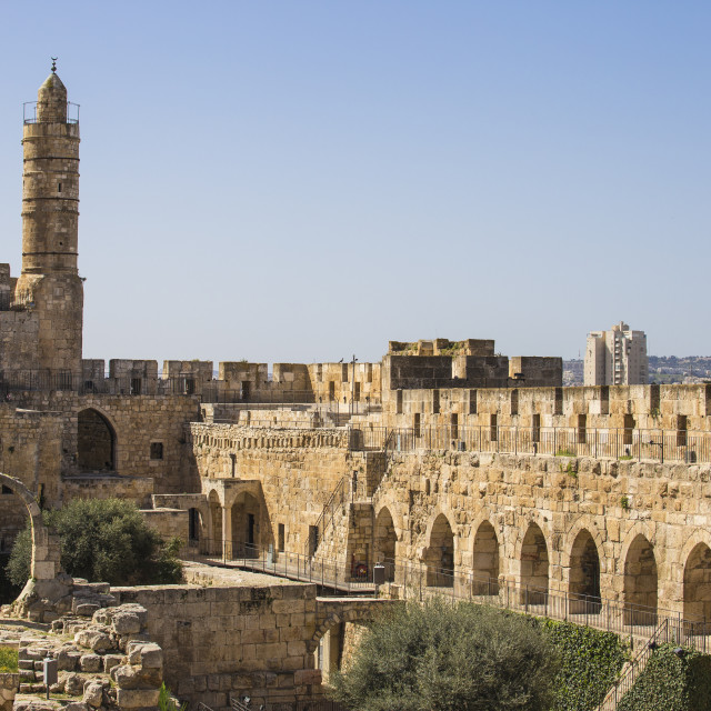 """Israel, Jerusalem, Old Town, The Tower of David also known as the Jerusalem..."" stock image"