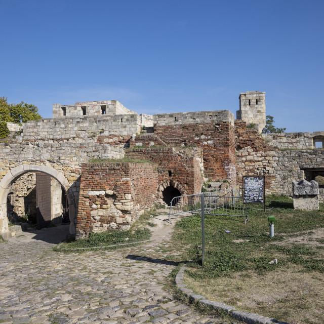 """Serbia, Belgrade, Kalemegdan Park, Belgrade Fortress"" stock image"