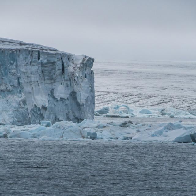 """Massive icefield, Champ Island, Franz Josef Land archipelago, Russia"" stock image"