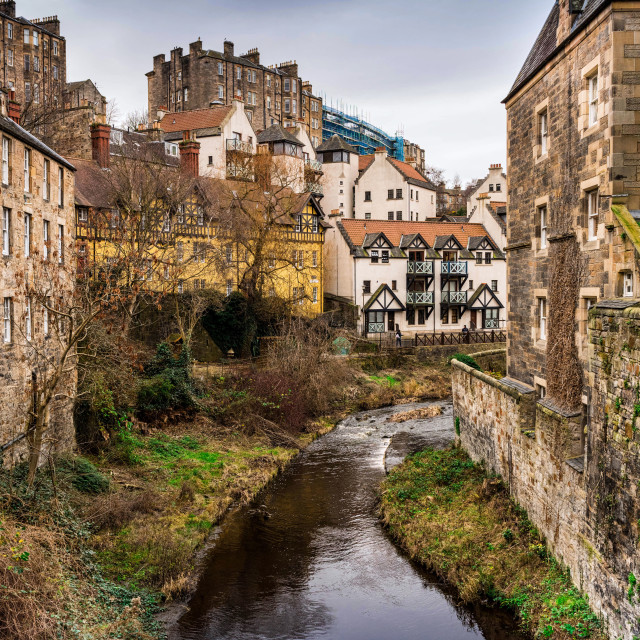 """Dean Village"" stock image"