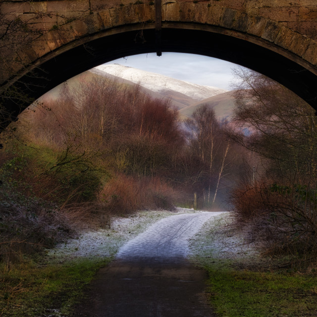 """Winter walk in Scotland"" stock image"