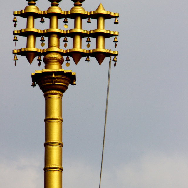 """""""Brass Pillar at Lepakshi"""" stock image"""