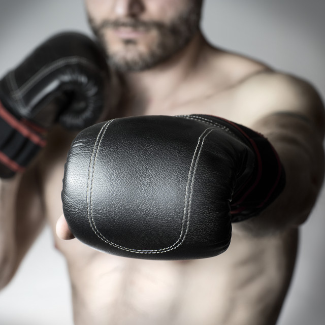 """punch of a boxer"" stock image"