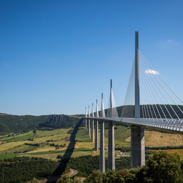 """Viaduct de Millau, Aveyron, France"" stock image"
