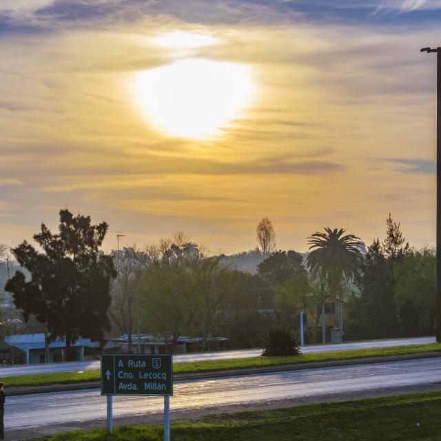 """""""Countryside Highway, Uruguay"""" stock image"""
