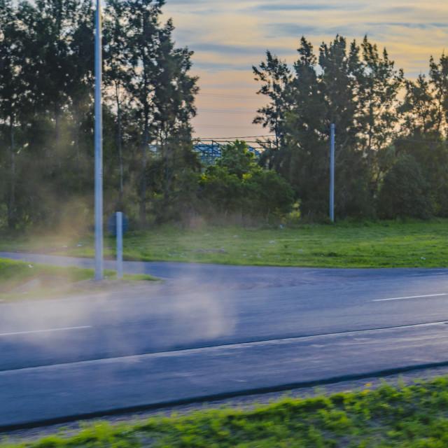 """Dusty Empty Route, Uruguay"" stock image"