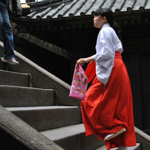 """Miko (Shrine Maiden)"" stock image"