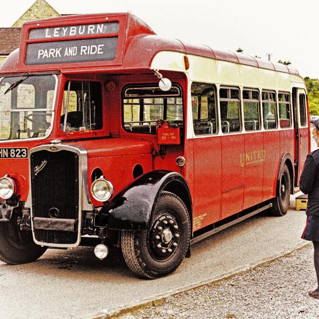 """Bristol 1940's bus"" stock image"