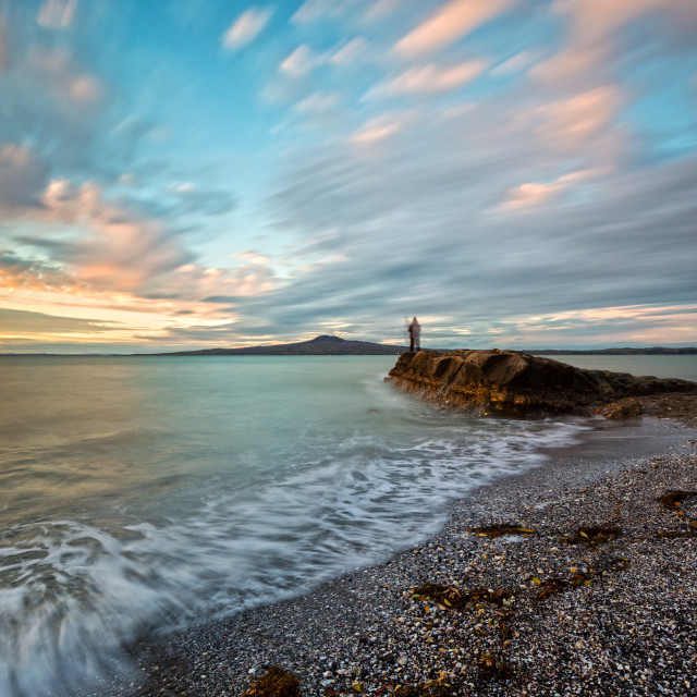 """""""Dusk hour at St Heliers bay Auckland New Zealand"""" stock image"""