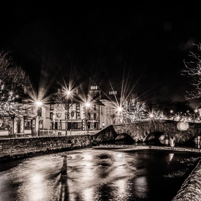 """Westport Bridge by Night"" stock image"