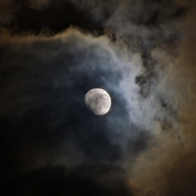 """Moon & Clouds"" stock image"