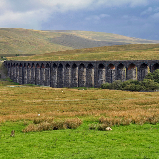 """Ribblesdale viaduct"" stock image"