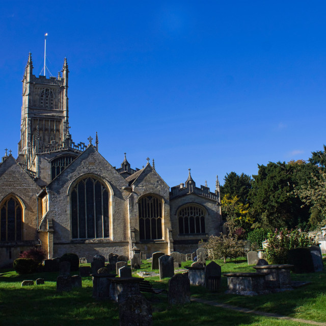 """Cirencester Parish Church."" stock image"