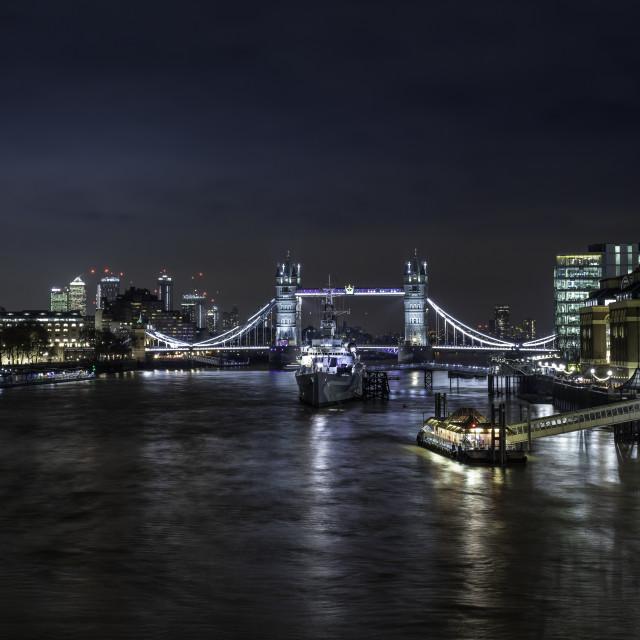 """The Tower Bridge, London"" stock image"