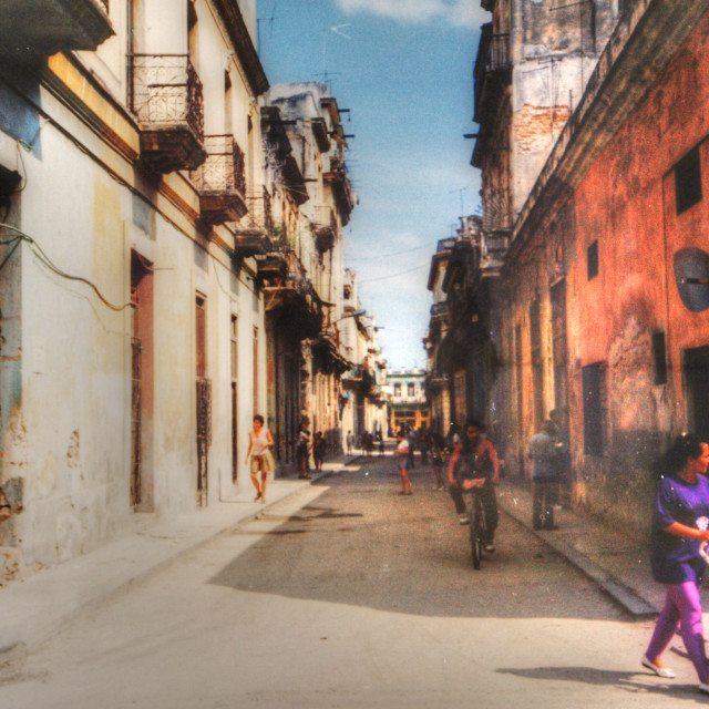 """Havana Cuba old film"" stock image"