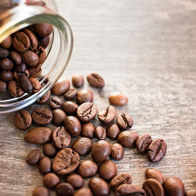 """""""Toasted coffee beans"""" stock image"""