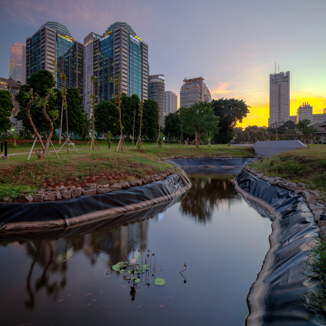 """""""Sudirman Central Business District"""" stock image"""