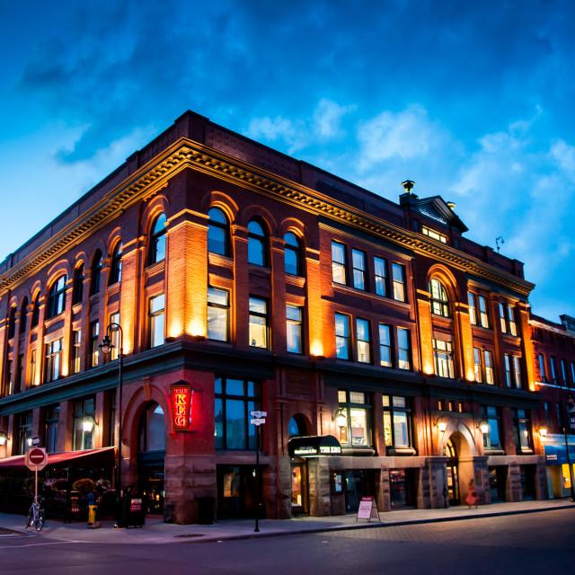 """""""Downtown Kingston Ontario"""" stock image"""